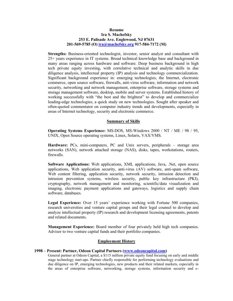 Resume - Expert Witness Network