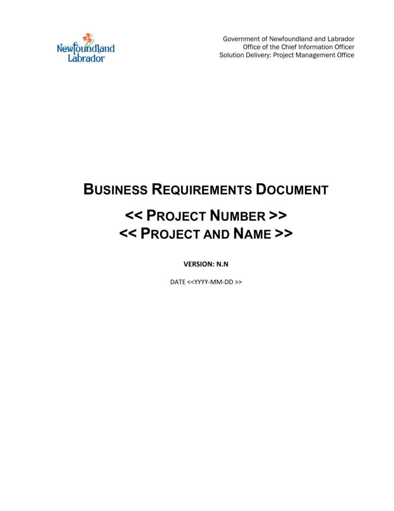 Business Requirements Document Brd Template