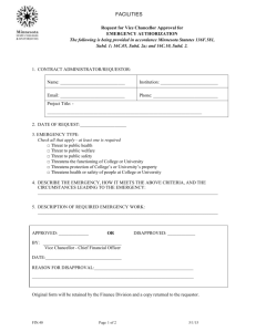 Emergency VC/CFO Authorization Form