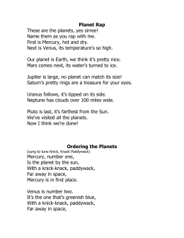 Planet Rap or Ordering the Planets