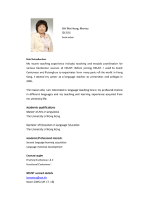 Full CV - Center for Language Education