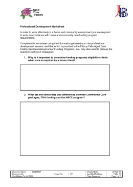 Worksheet – Personal Development