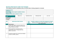 Business Risk Review Audit Trail Template (Word 49KB)