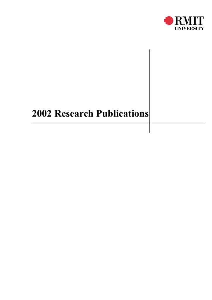 Areas Publishing In 2002