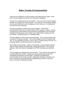Notes: 5 Levels of Communication