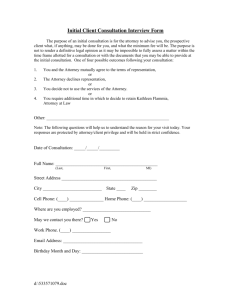 Initial Client Consultation Interview Form