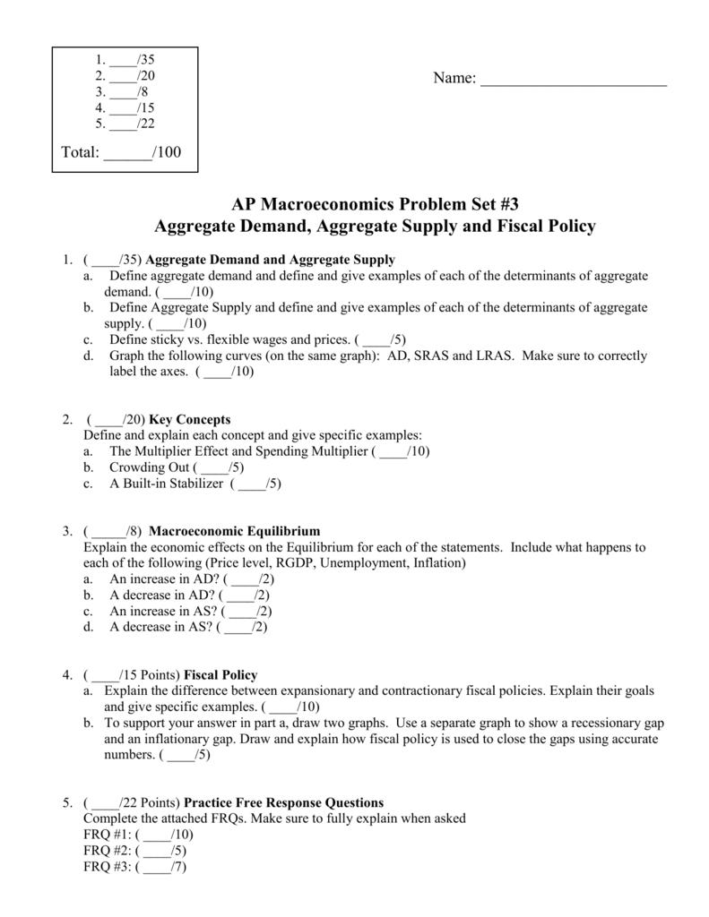 ap macro problem set 3 2013 rh studylib net ap micro unit 3 study guide Math Unit 3 Study Guide