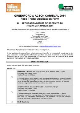 Food Trader Application Form