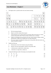 Core Worksheet – Chapter 4 - Cambridge Resources for the IB