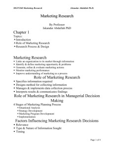 MGT5268 Marketing Research