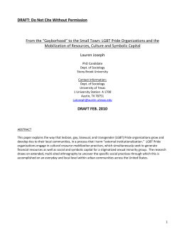 "DRAFT: Do Not Cite Without Permission From the ""Gayborhood"" to"