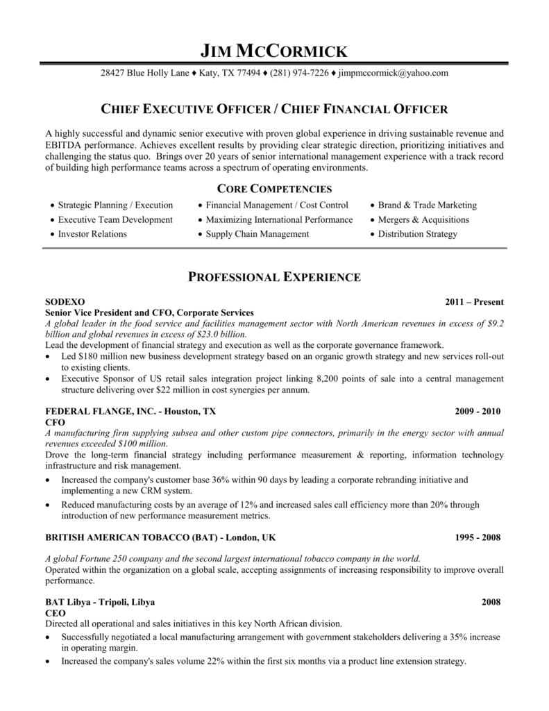 Resume - Word - Webprofile info