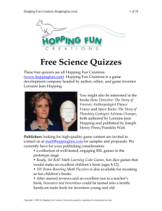 Free Science Quizzes - Hopping Fun Creations