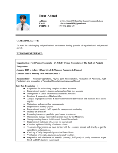 CURRICULUM VITAE - Labour and Human Resource