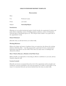 Grad Internship report template