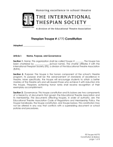Thespian Troupe #6770 Constitution