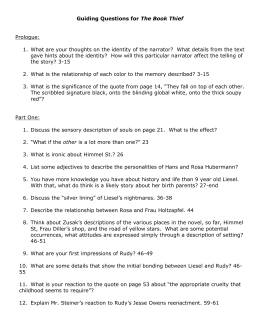 the book thief comprehension questions discussion points and guiding questions for the book thief