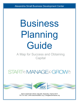 Business Planning Guide - Alexandria Small Business Development