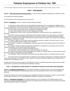 Employment of Children Act, No. V/1991
