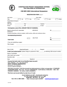CIB W99 Registration Form