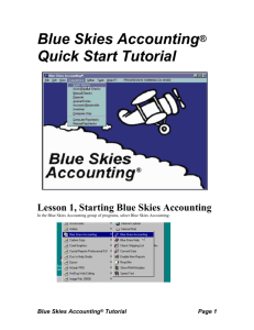 Quick Start Tutorial for Blue Skies