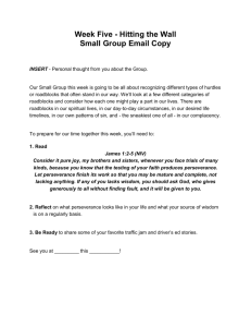 Week Five - Hitting the Wall Small Group Email Copy INSERT