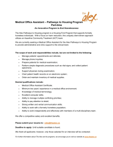 Medical Office Assistant – Pathways to Housing Program Part