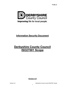 ISO27001 Scope - Derbyshire County Council