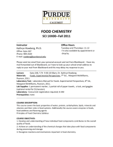 general chemistry - Purdue University Calumet