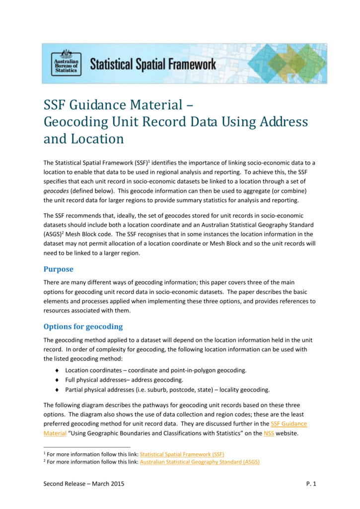 Address Geocoding - National Statistical Service