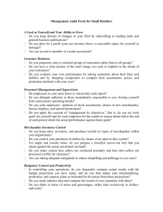 Management Audit Form for Small Retailers