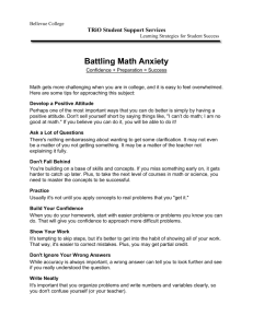 Math Anxiety - Bellevue College