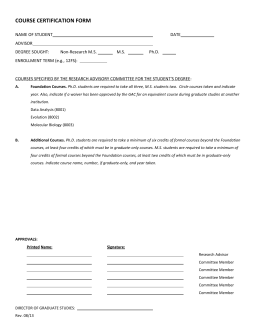 Course Certification Form