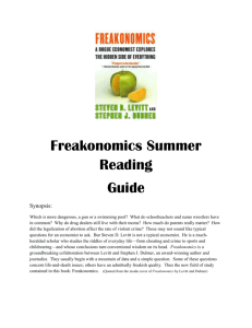 Freakonomics Study Guide - Hinsdale Central High School