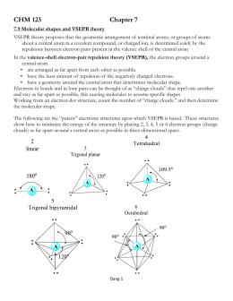 Notes on the VSEPR Model of Molecular Geometry