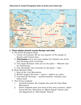 Attachment A: Student Geography Notes on Russia and Central Asia