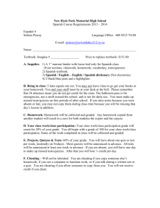Class contract - Spanish 4 - Sewanhaka Central High School District