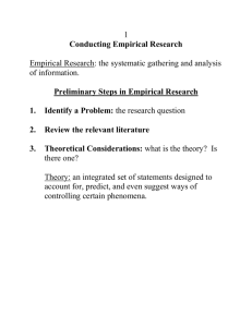Types of Descriptive/Correlational Research