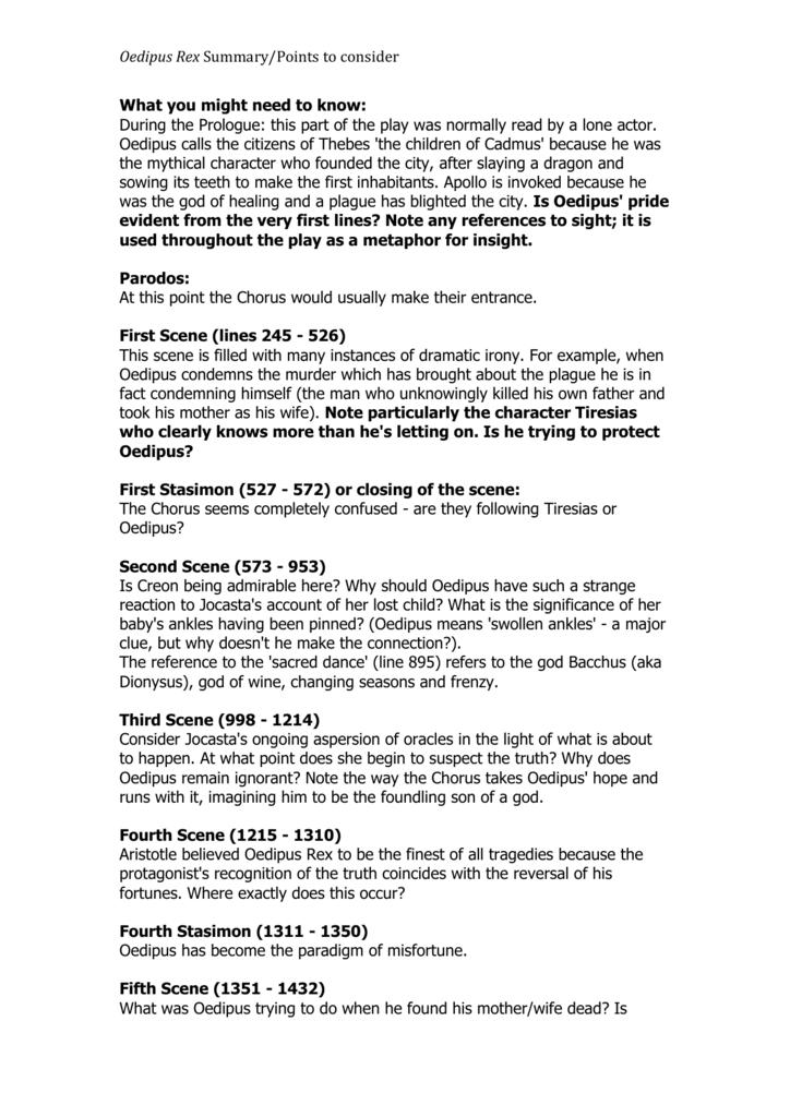 tiresias in oedipus rex essay example