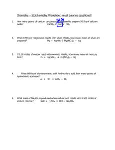 pH Practice Worksheet