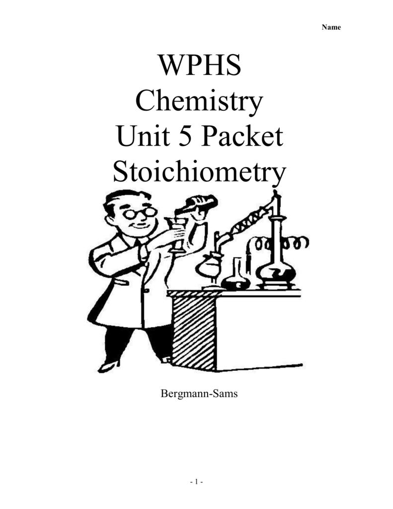 Worksheet 5 1 Stoichiometry
