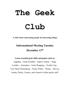 The Geek Club - Andree Institute