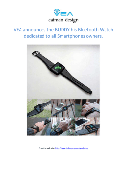 VEA announces the BUDDY his Bluetooth Watch dedicated to all