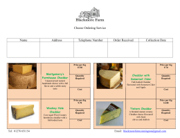 Cheese Ordering Service Tel: 01278 651154 Email