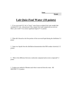 Lab Quiz-Foul Water