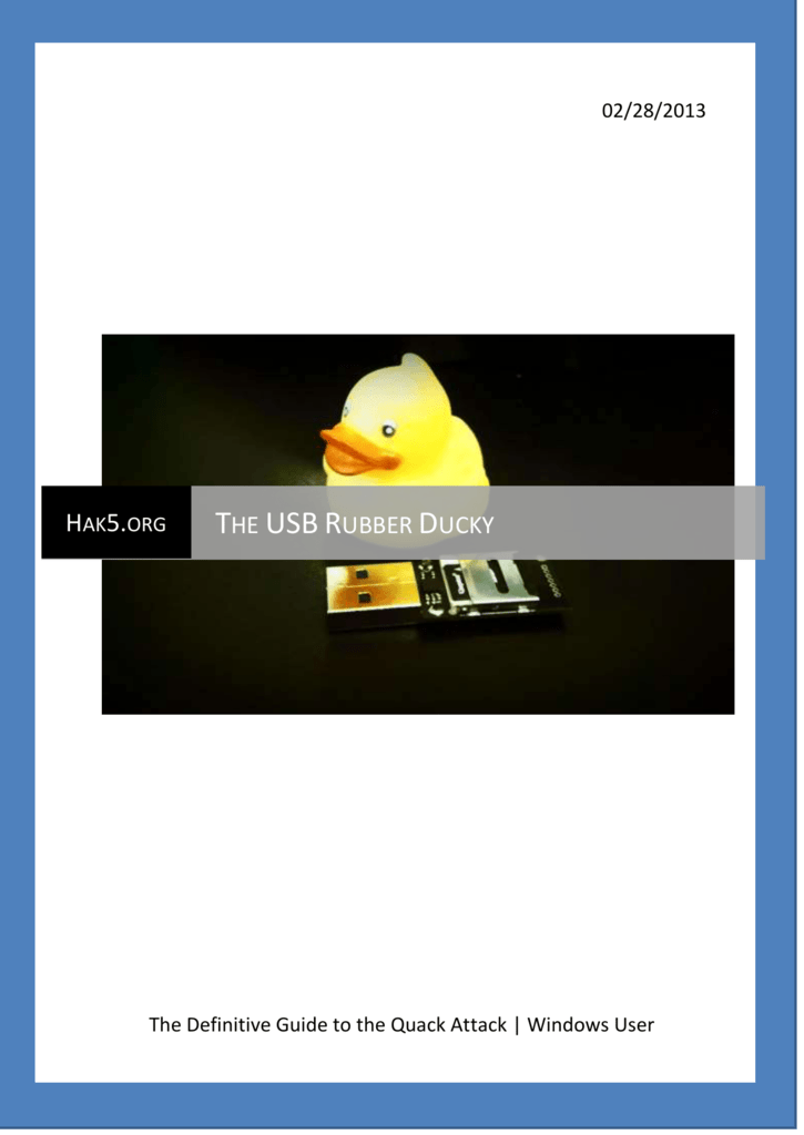 The USB Rubber Ducky - Ducky