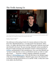 The Trolls Among Us Robbie Cooper for The New York Times The