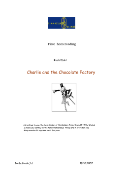 First homereading Roald Dahl Charlie and the Chocolate Factory