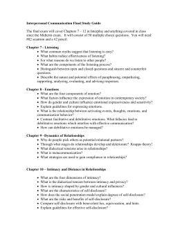 communication final study guide