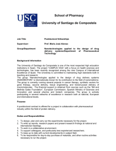 School of Pharmacy University of Santiago de Compostela Job Title